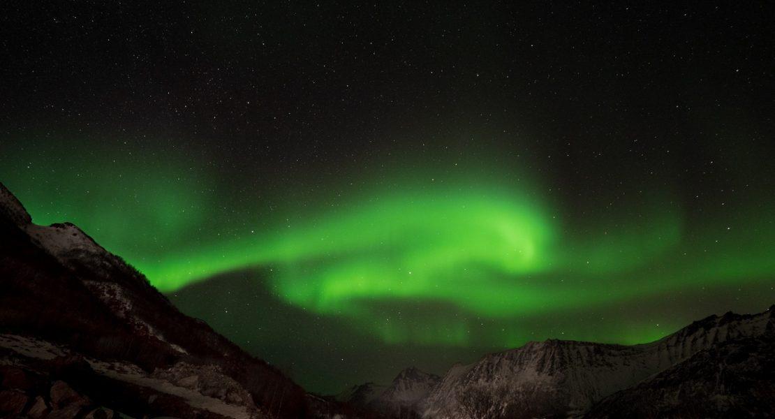 Aurora boreale a Fjordgård, Senja