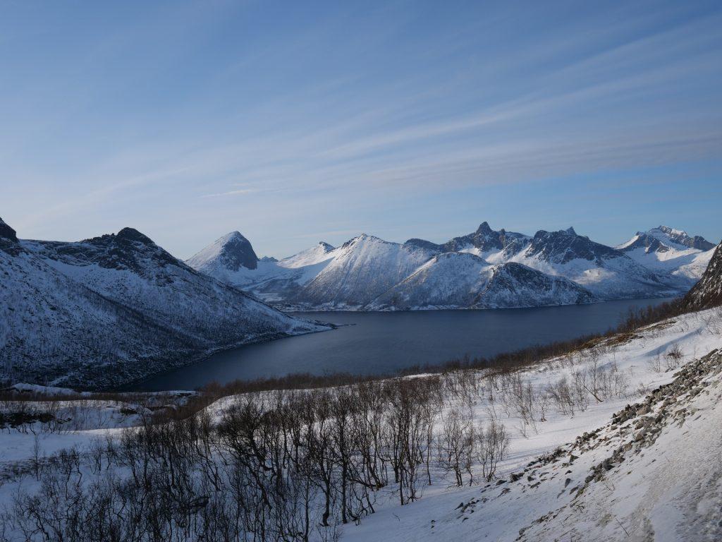 La vista sul Mefjord, Senja