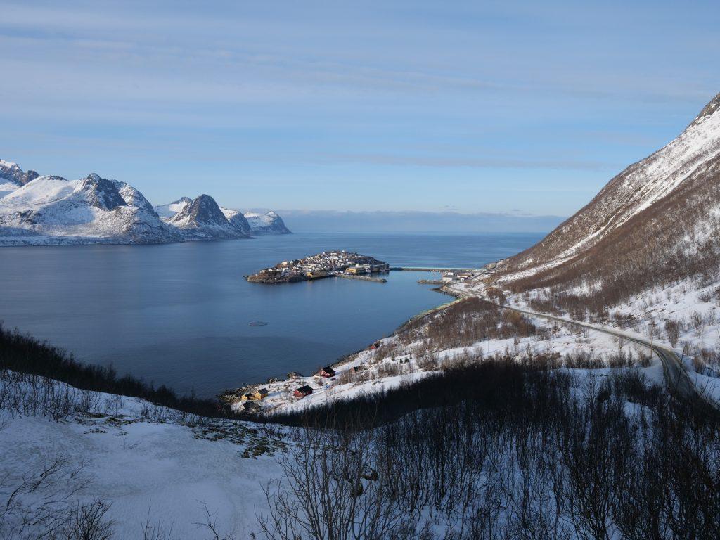 Il villaggio/isola di Husøy, Senja