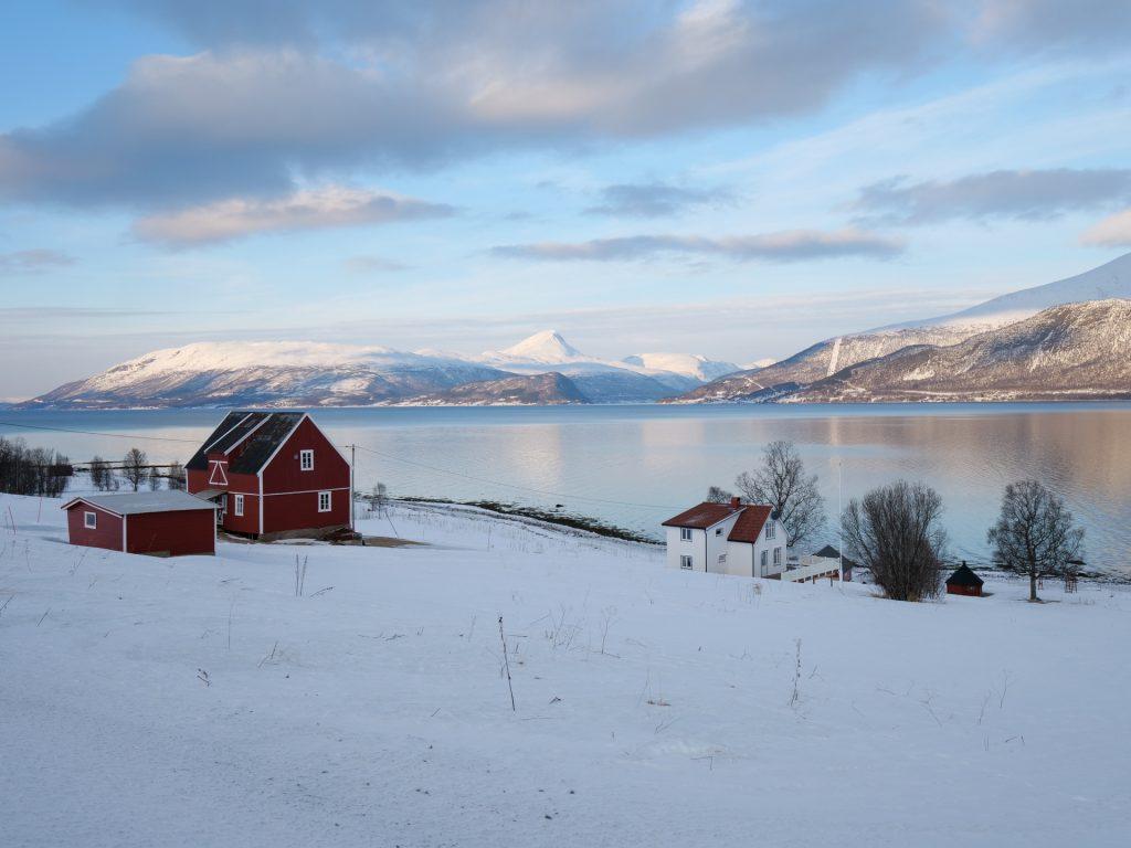Veduta del fiordo Sørkjosleira, Norvegia