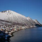 Veduta di Fjordgård al mattino, Senja